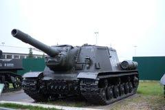 O contratorpedeiro de tanque ISU-152 pesado Imagem de Stock
