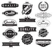 O controle de qualidade sela o vetor EPS Foto de Stock Royalty Free
