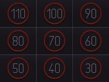 o controle de velocidade 3D conduziu luzes Fotografia de Stock
