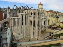 O convento Convento de Carmo faz Carmo, Lisboa, Portugal Foto de Stock Royalty Free