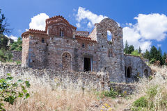 O convento de Mystras arruina Grécia Fotografia de Stock Royalty Free