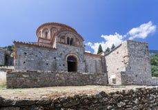 O convento de Mystras arruina Grécia Imagem de Stock