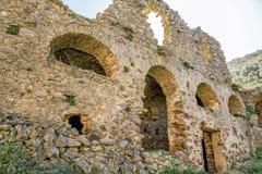 O convento de San Francescu perto de Castifao em Córsega fotos de stock
