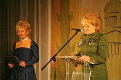 O convidado de honra Valentina Matvienko, um dos políticos fêmeas contemporâneos os mais famosos Imagem de Stock Royalty Free