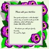 O convite ao tema da viola do outono e dos feriados do outono flui Imagem de Stock