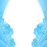 O convite de papel abstrato azul com aumentou Fotos de Stock Royalty Free