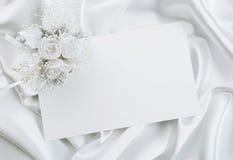 O convite do casamento Fotografia de Stock Royalty Free