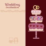 O cartão do vetor do convite do casamento Fotos de Stock Royalty Free