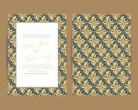 O convite do casamento e salvar os cartões de data Fotografia de Stock Royalty Free