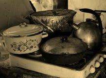 O Cookware não é um fogão Imagens de Stock Royalty Free