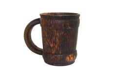 O copo de madeira handcraft Imagens de Stock