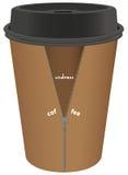 O copo descartável criativo despe o café ilustração royalty free