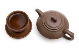 O copo do chá e do teapot Imagem de Stock Royalty Free