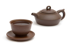 O copo do chá e do teapot Foto de Stock Royalty Free