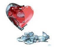 O coração é coberto com o gelo Imagens de Stock