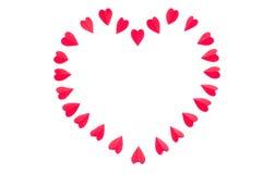 O coração é feito dos corações vermelhos de papel Foto de Stock Royalty Free