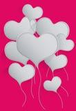 O coração balloons o fundo Imagens de Stock Royalty Free