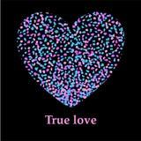 O coração bonito com respingo acende o fundo Fotos de Stock Royalty Free