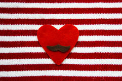 O coração com de um bigode Fotos de Stock Royalty Free