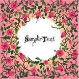 O coração com rosas e espinhos com text.jpg Imagem de Stock Royalty Free