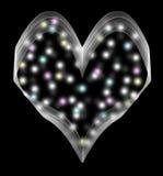 O coração com vaga-lume Imagem de Stock Royalty Free