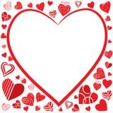 O coração dá fôrma ao fundo ilustração stock