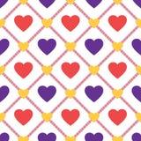 O coração dá forma ao teste padrão sem emenda Foto de Stock
