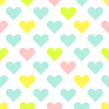 O coração dá forma ao teste padrão sem emenda do vetor do bebê bonito Fotografia de Stock Royalty Free