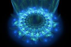 O coração da mandala azul Fotos de Stock Royalty Free