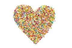 O coração dado forma polvilha Foto de Stock