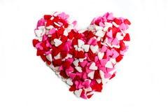 O coração dado forma polvilha para o dia de Valentim imagem de stock royalty free