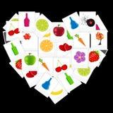 O coração das fotos imediatas vector a ilustração Ilustração do Vetor