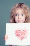 O coração desenhado imagens de stock