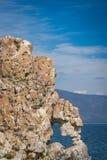 O coração deu forma ao furo na rocha do cabo do ` s de Kurma fotografia de stock royalty free