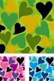 O coração deu forma ao jogo do teste padrão camuflar Imagens de Stock Royalty Free