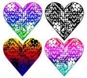 o coração deu forma ao teste padrão, projeto do t-shirt ilustração stock