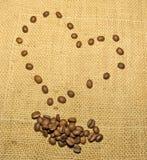 O coração do café Foto de Stock Royalty Free
