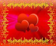 O coração do cartão ilustração stock