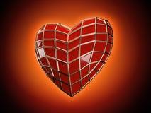 O coração do homem-aranha Imagens de Stock