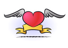 O coração do tatuagem ilustração do vetor