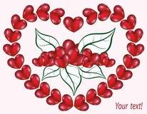 O coração dos corações do papel do volume ilustração stock