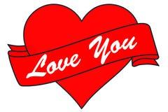 O coração e a bandeira, amam-no Fotografia de Stock Royalty Free