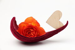 O coração e levantou-se Imagem de Stock Royalty Free