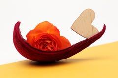 O coração e levantou-se Fotografia de Stock Royalty Free