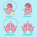 O coração e o pulmão exercitam ilustração do vetor
