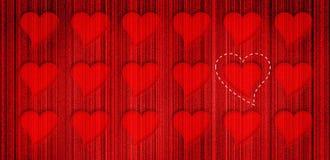 O coração enfileira o fundo Imagens de Stock