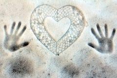 O coração frio Fotografia de Stock Royalty Free