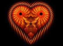 O coração gosta da forma do leão Fotografia de Stock Royalty Free