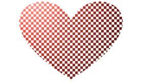 O coração gosta de um tabuleiro de xadrez, ilustração 3D Foto de Stock