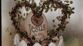 O coração, Jesus é minha rocha imagens de stock royalty free